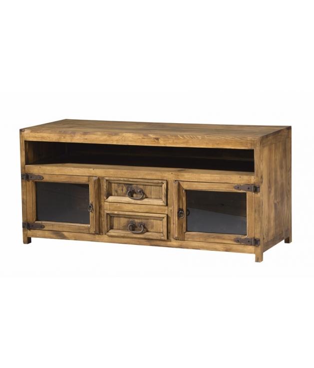 comprar mueble tv de madera estilo rustico modelo 255