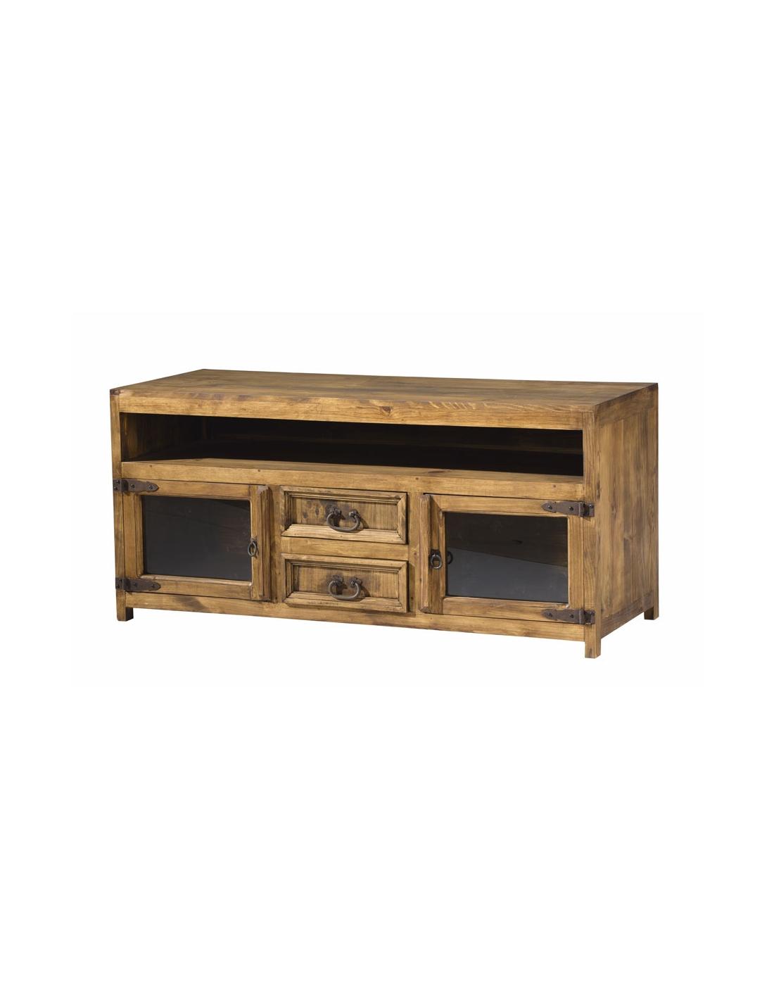 Comprar mueble tv de madera estilo rustico modelo 255 for Estilos de muebles de madera