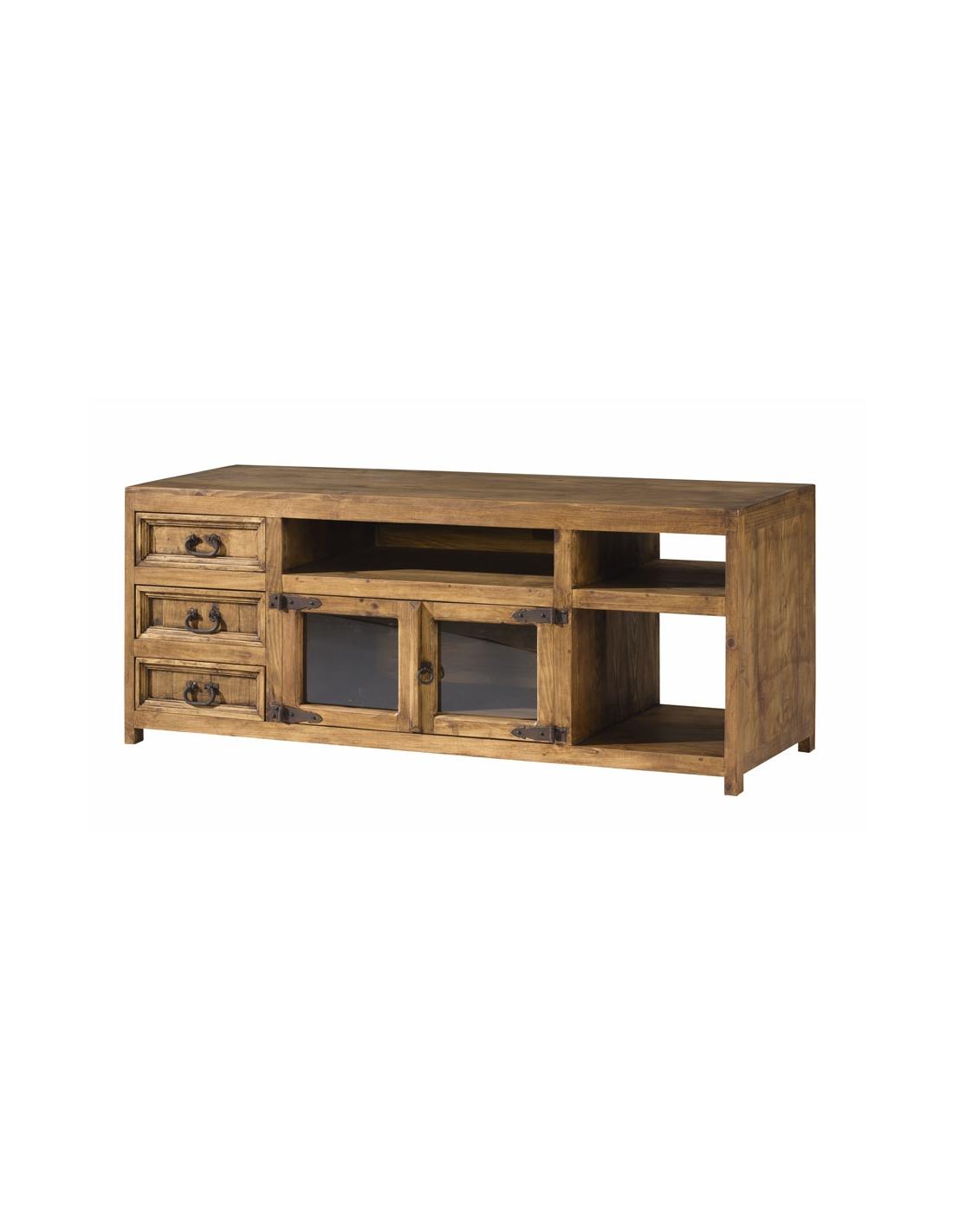 Comprar mueble tv de madera de estilo rustico 257 de modular home - Muebles estilo rustico ...