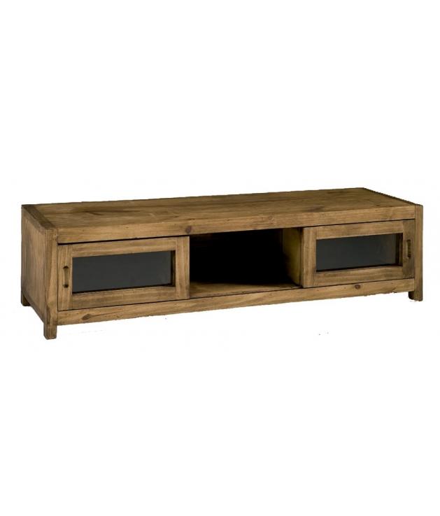 Comprar mueble tv madera estilo rustico de 125 cm ancho - Mueble rustico para tv ...