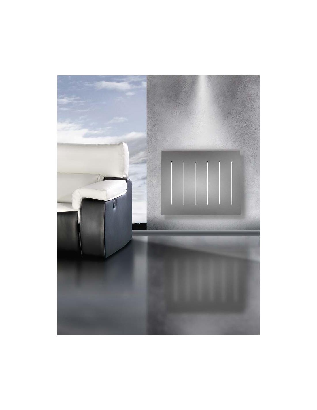 Comprar cubreradiador aluminio gris oscuro a medida del for Mueble gris oscuro