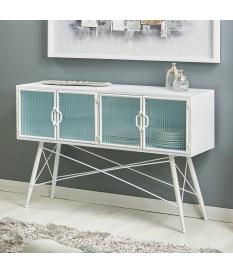 Aparador buffet metal modelo Ozan color blanco