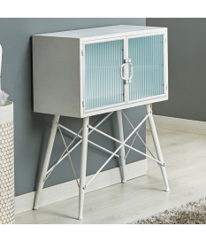 Mueble auxiliar metal modelo Ozan color blanco