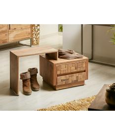 Mueble auxiliar en madera de acacia