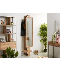 Espejo vestidor en madera de acacia