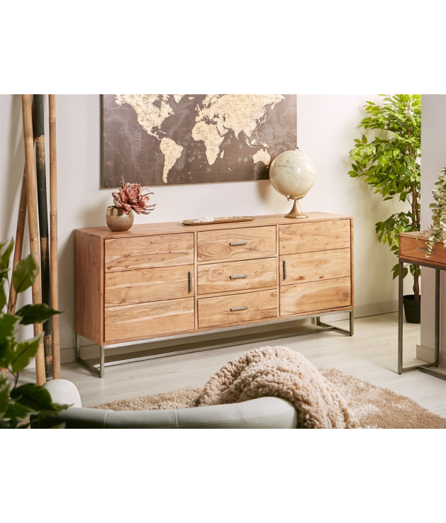 Aparador buffet Neith madera de acacia y metal