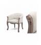 Sillón lino beige capit patas madera 61x61x71 cm