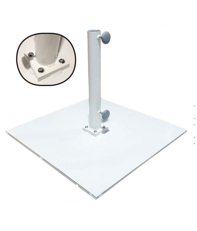 Base de parasol plancha metálica 20 kg