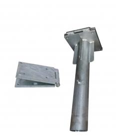 Base de parasol metálica empotrable galvanizada