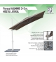 Parasol Aluminio 3 x 3 m mástil lateral