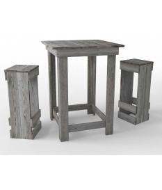 Mesa alta cuadrada madera autoclave