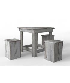 Mesa de comedor cuadrada madera autoclave
