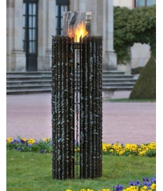 Chimenea bioetanol mod. Kalypso 180 cm alto