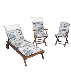 Set de 15 cojines asiento cuadrado loneta