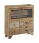 Mueble zapatero madera natural dos cajones