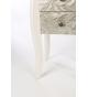 Telefonera madera blanca tallada 40x34x70 cm