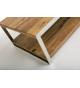 Mesa de centro acero y palisandro 120x70x40 cm