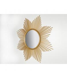 Espejo redondo dorado Estrella