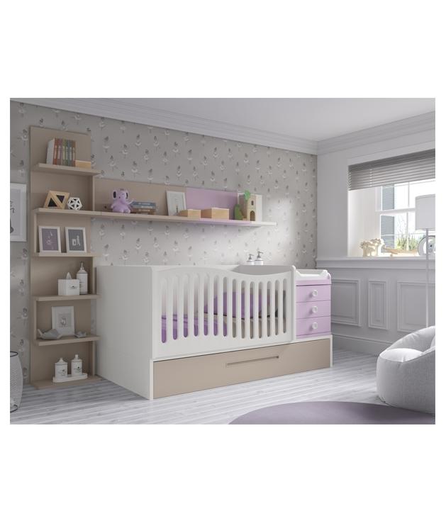 Comprar composici n c108 habitaci n bebe con cuna - Habitacion convertible bebe ...
