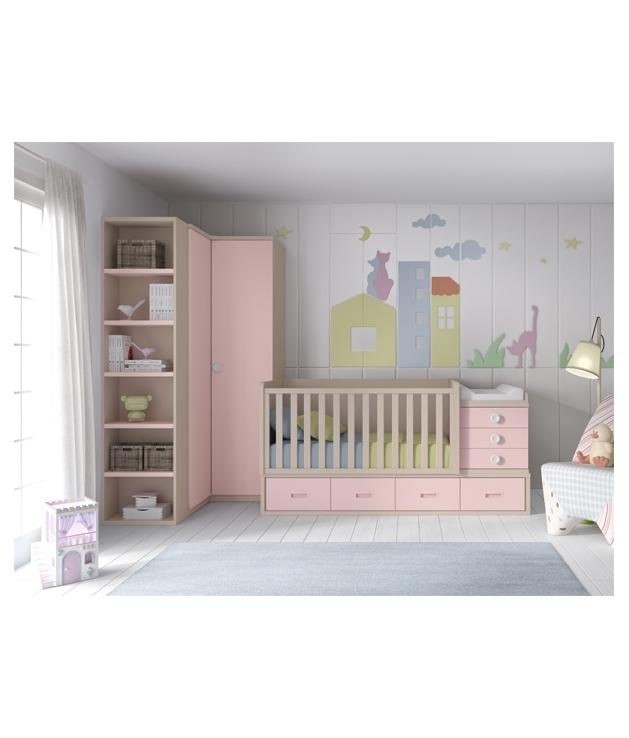 Comprar composici n c110 habitaci n bebe con cuna - Habitacion convertible bebe ...
