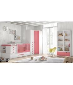 Composición habitación infantil C104 con cuna convertible 30