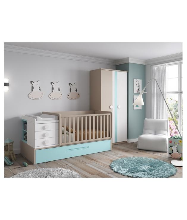 Comprar composici n c105 habitaci n bebe con cuna - Habitacion convertible bebe ...