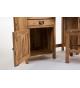 Escritorio madera de acacia con silla