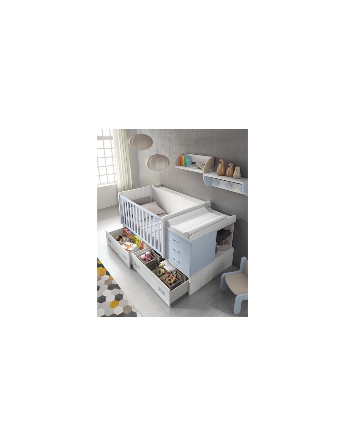 Comprar composici n c109 habitaci n bebe con cuna - Habitacion convertible bebe ...