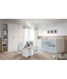 Composición habitación de bebe con cuna convertible 30 C106