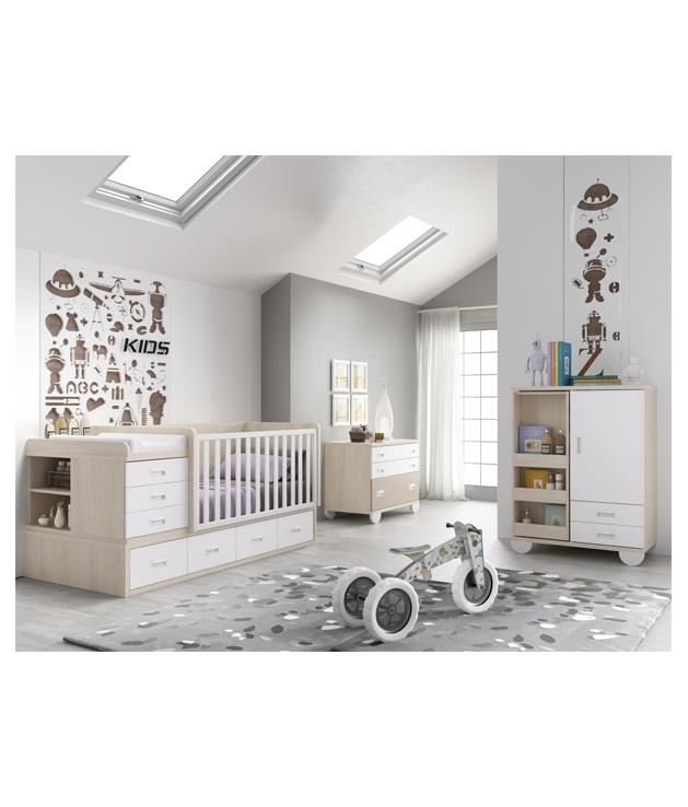 Comprar composici n habitaci n bebe con cuna convertible - Habitacion convertible bebe ...