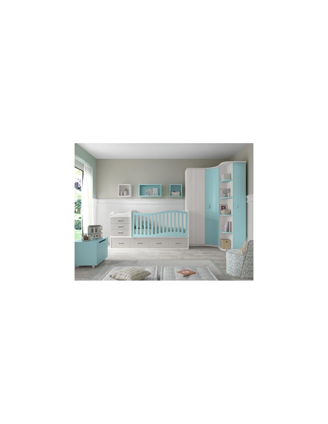 Comprar composici n habitaci n bebe con cuna convertible - Iluminacion habitacion bebe ...