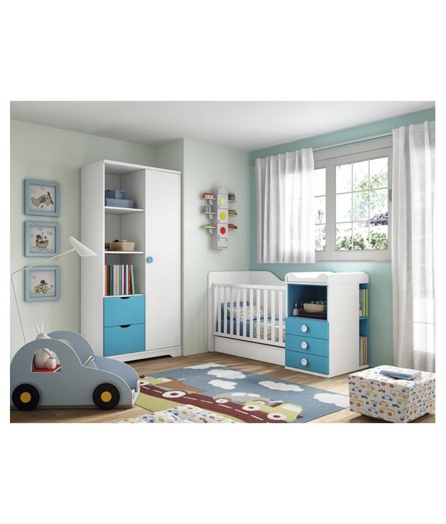 composicin habitacin bebe con cuna convertible mod star c with habitacion infantil convertible