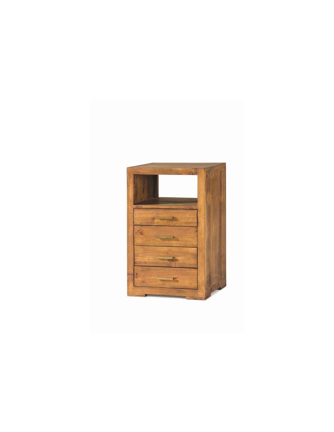 Comprar mueble auxiliar estilo rustico madera con cajones for Mueble auxiliar rustico