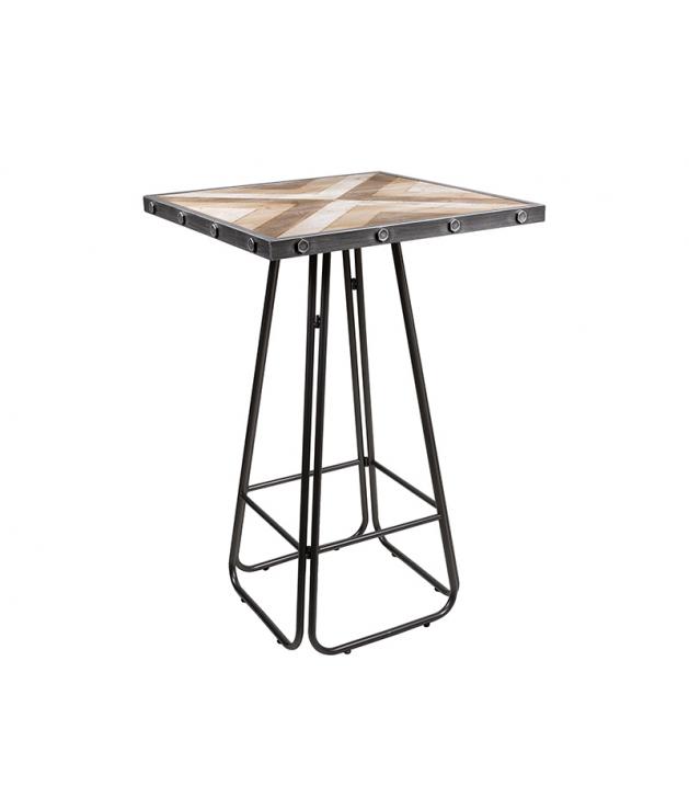 Mesa de comedor alta estilo industrial