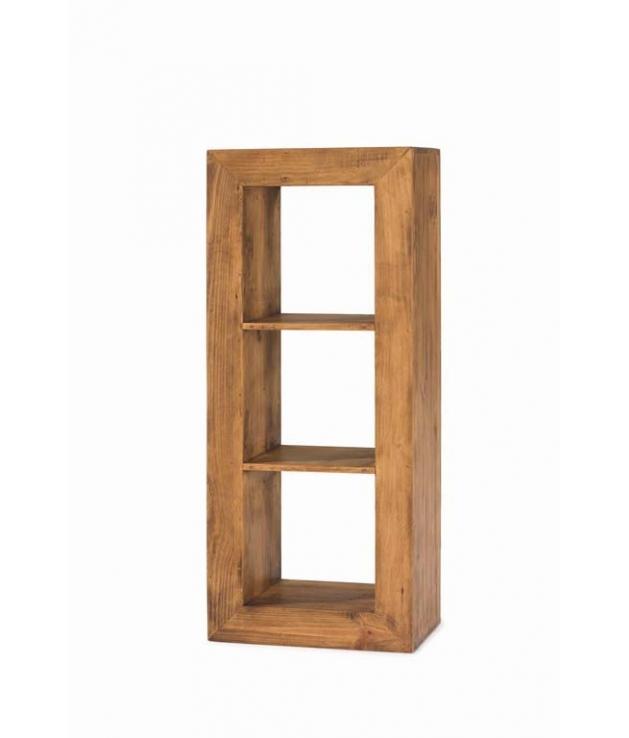 Comprar Estanteria Cubo Rustica Madera Tres Huecos 50072 Zoom - Estanterias-rusticas-de-madera