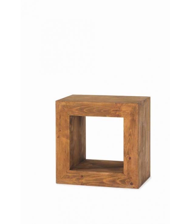 Comprar Estanteria Cubo Rustica Madera Cuadrada 50071 Zoom - Estanterias-rusticas-de-madera