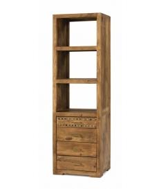 Librero madera rustico detalle