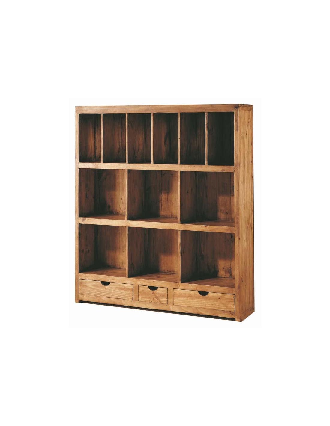 Comprar librer a modular madera estilo rustico 134 cm - Libreria de madera ...