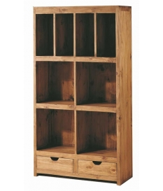 Librero modular madera rustico