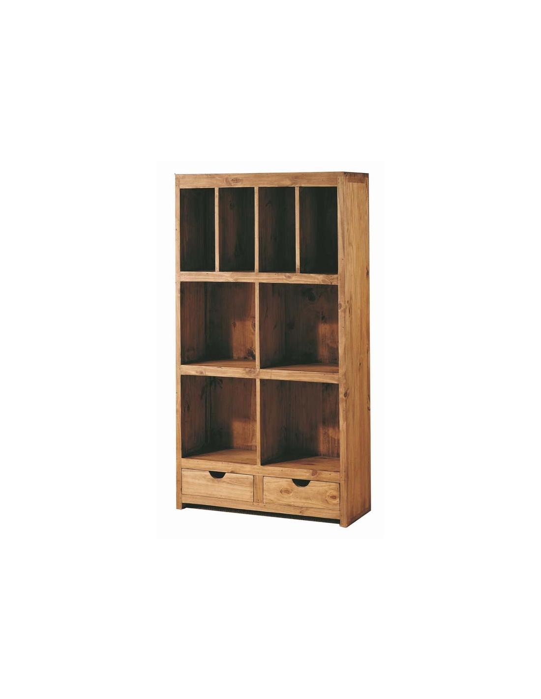 Comprar librero modular madera rustico 83 cm modular home for Librero escalera