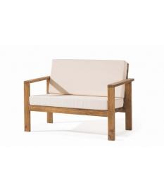 Sofá madera rustico