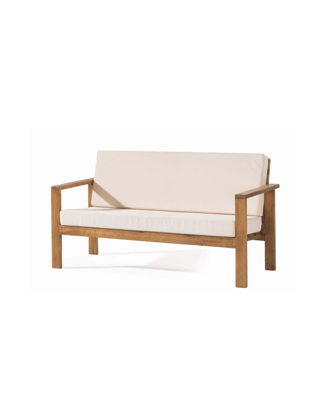 Comprar sof de madera de tres plazas estilo rustico minimal - Sofas de madera ...