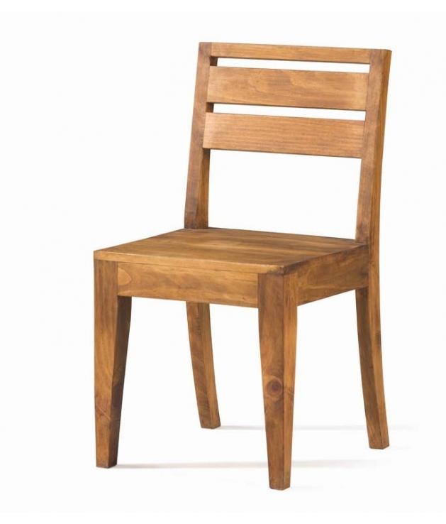 Comprar Silla de comedor rustica madera natural 50033 Zoom