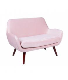 Sofá dos plazas Brown rosa
