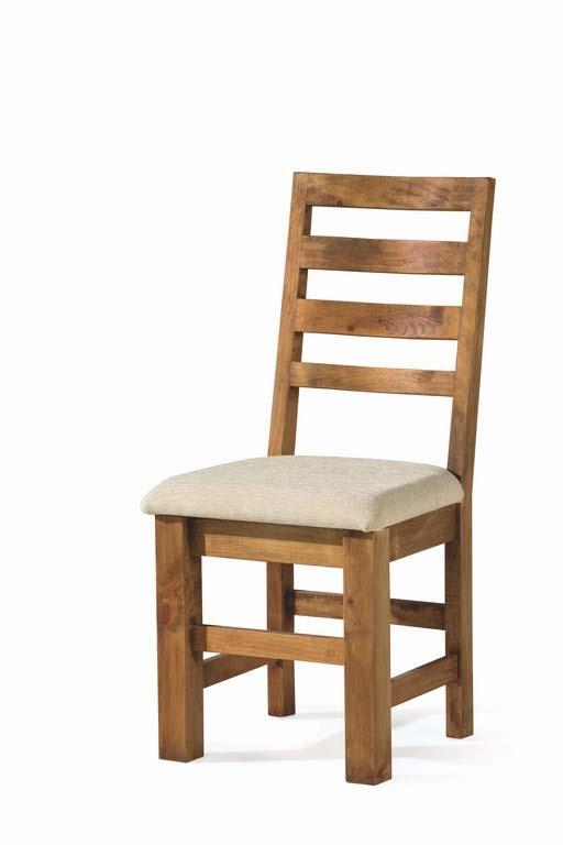 Comprar Silla de comedor rustica asiento tapizado 50032 Zoom