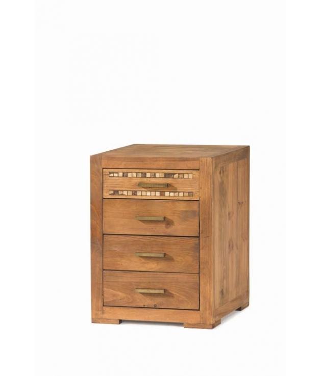 Comprar mesita de noche rustica madera natural modular studio - Mesitas de noche en madera ...