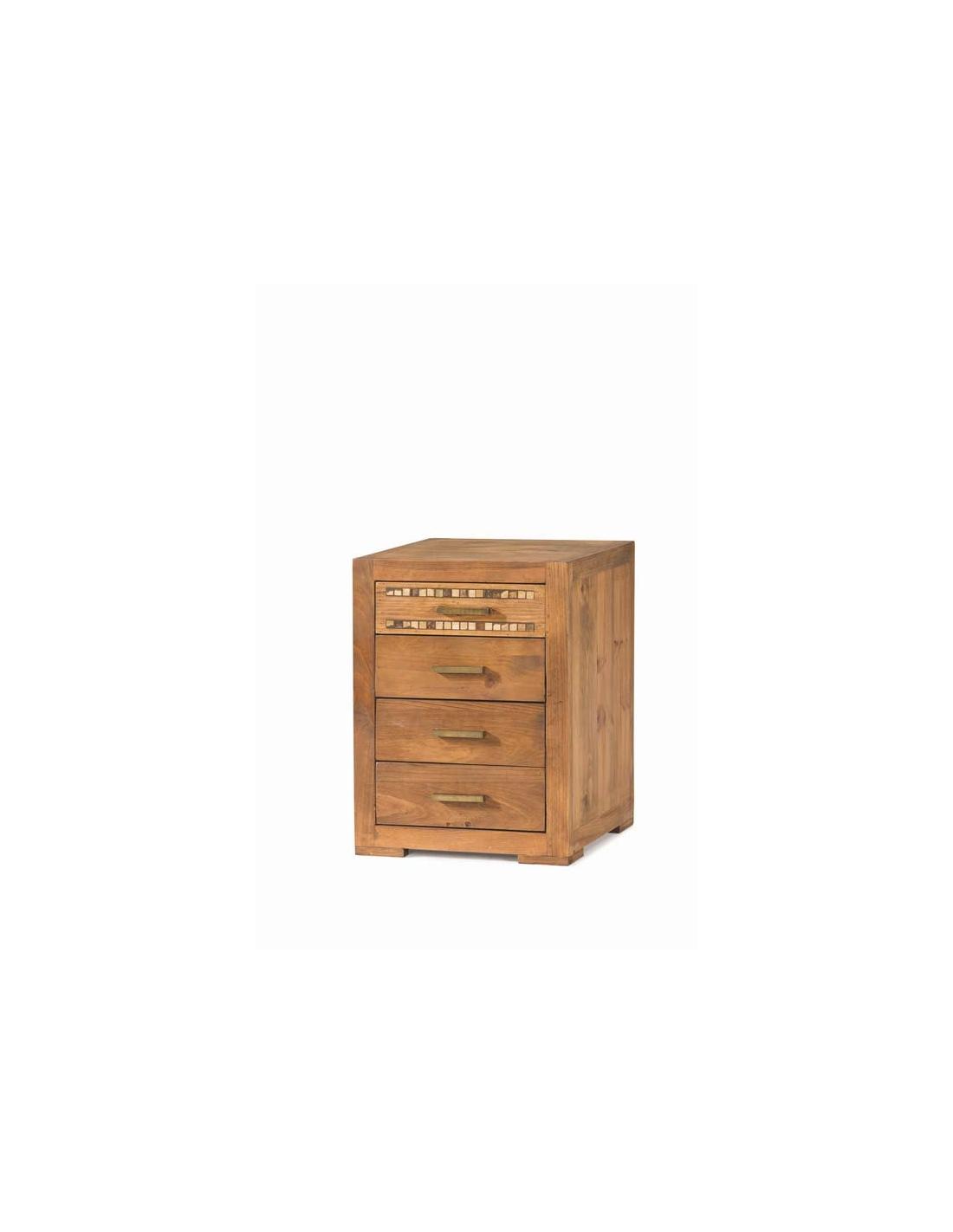 Comprar mesita de noche rustica madera natural modular studio - Mesitas de noche de madera ...