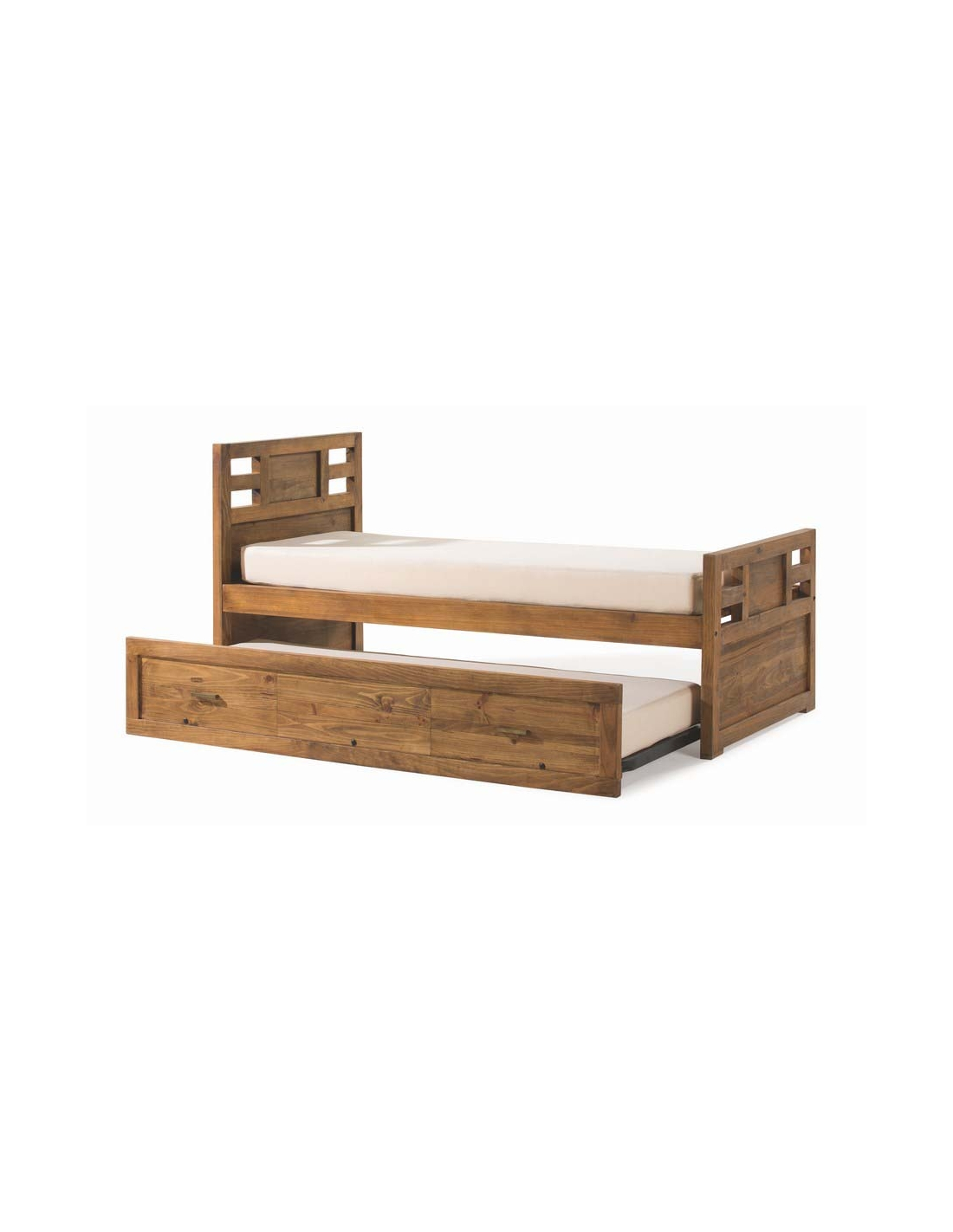 Comprar cama nido de 90 cm con arrastre madera modular studio for Cama nido color madera