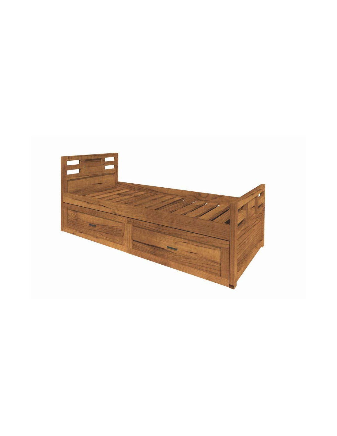 Comprar cama nido de 90 cm con cajones de madera modular - Mueble cama nido ...