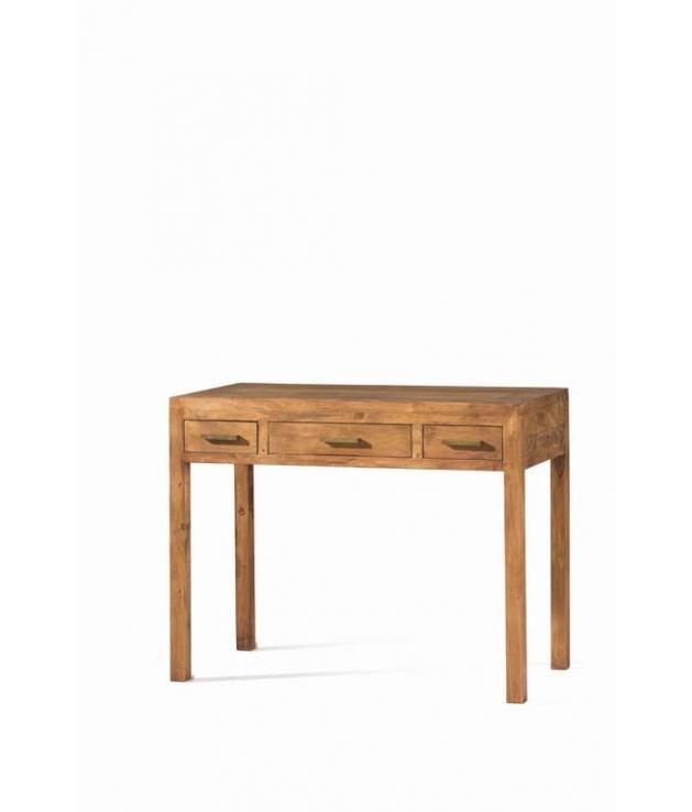 Comprar mesa escritorio de madera 100 cm rustico modular - Escritorios rusticos de madera ...